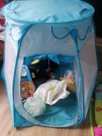 zabawki, namiot, robot, puzzle, zamienię