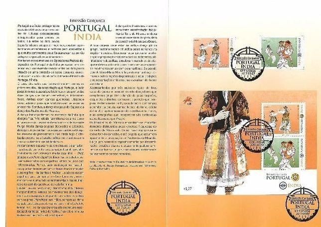 pagela selos Portugal India - sobrescrito primeiro dia