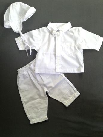 Ubranko zestaw do chrztu dla chłopca chłopięce koszula spodnie 68-74