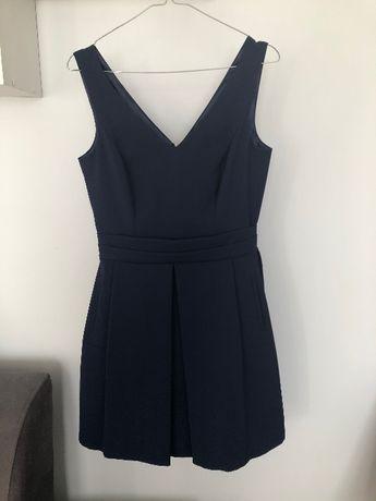 Granatowa sukienka wieczorowa 36 S