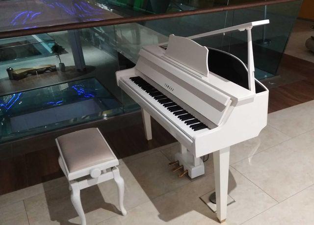 Прокат аренда белого черного рояля Yamaha