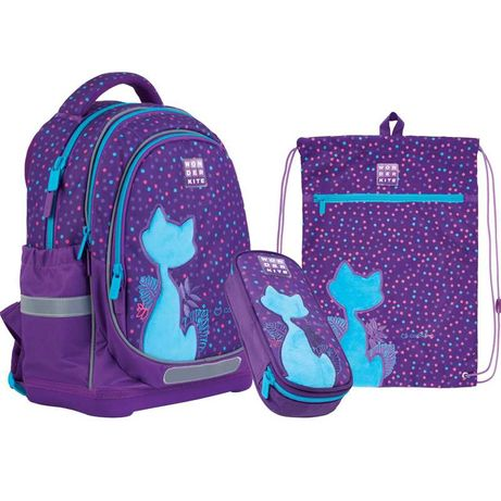 Школьный набор рюкзак + пенал + сумка Wonder Kite Catsline WK21-724S-1