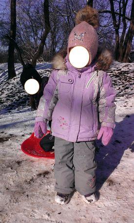 Костюм комбинезон куртка зимний на девочку