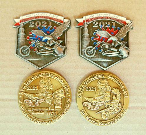 Znaczki, odznaki, blachy zlotowe - motocyklowe