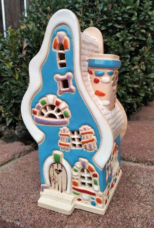 Подсвечник-аромалампа. Сказочный домик из керамики. Декор