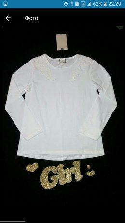 Белая нарядная кофточка реглан для девочки Zara от 8-10 лет
