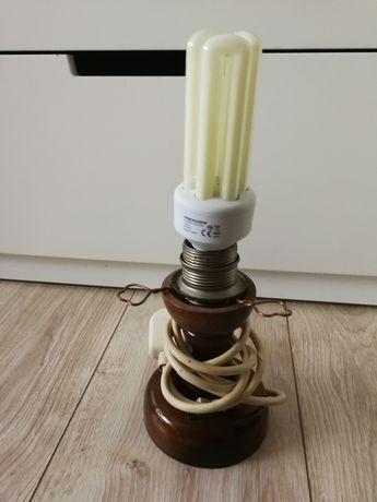 Lampa lampka drewniana