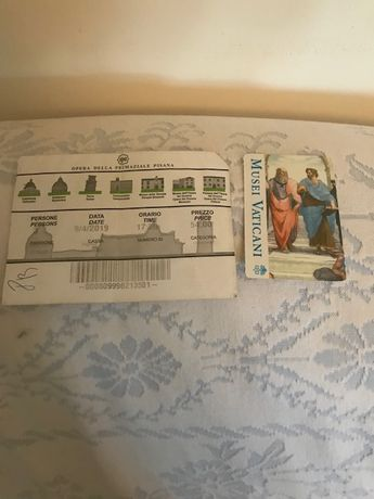Bilhetes Vaticane e Piazza Del Duomo