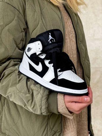 Nike Air Jordan 1 Black White/ Найк Аир Джордан 1 Черные 36-41р