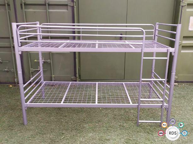 Łóżko PIĘTROWE Łóżka metalowe pracownicze hostelowe wojskowe B-50 HURT