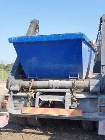 Contentores e carrinhas para entulho de obras e resíduos de jardinagem