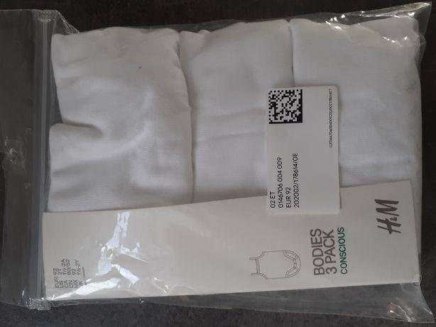 Body na ramiączkach hm podkoszulki 92 3pak nowe
