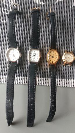 Cztery damskie zegarki