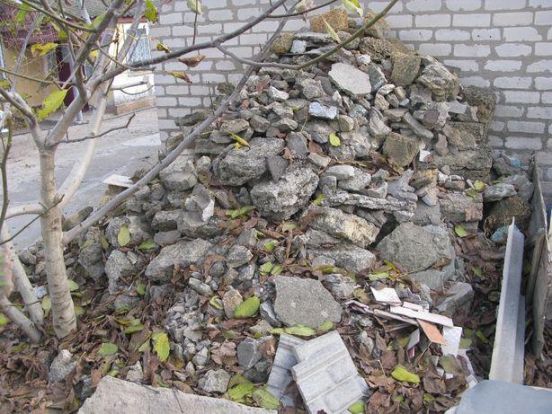 Камень бут, бой бетона, остатки после строительства