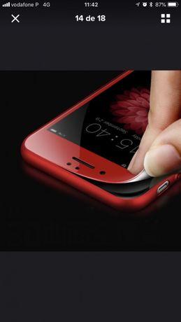 Capa 3 Temperada para iPhone 6 6s 7 7 Plus 8 e X