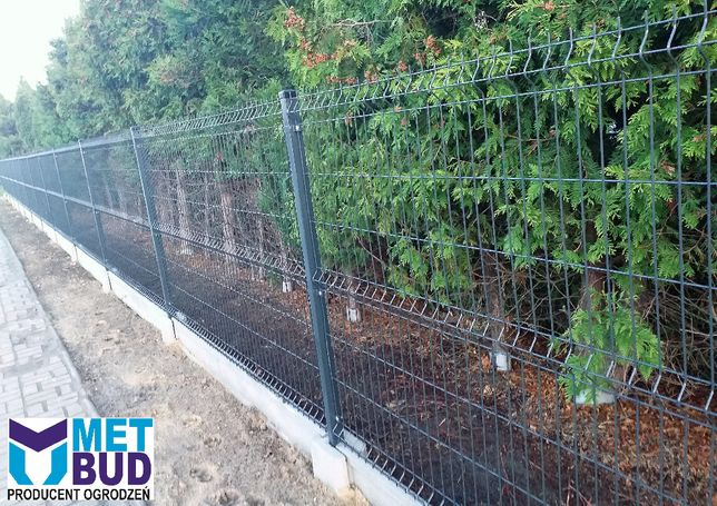 Panele ogrodzeniowe h-1,23 fi4 mm, podmurówka, słupki