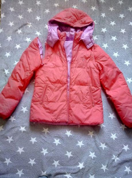 куртка зимняя девичья ,пуховик benetton, жилетка
