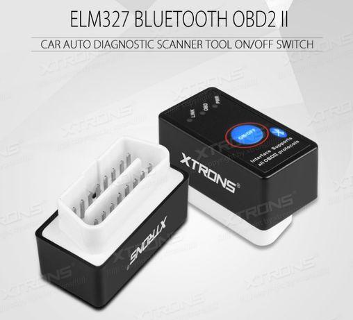 Interface de Diagnóstico Bluetooth OBD2 Xtrons com botão On/Off
