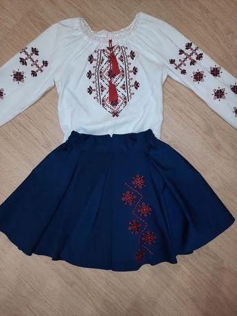 Набор вышиванка с юбкой  школьные юбки