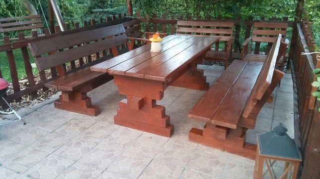 Meble ogrodowe, stół ogrodowy, ławka ogrodowa