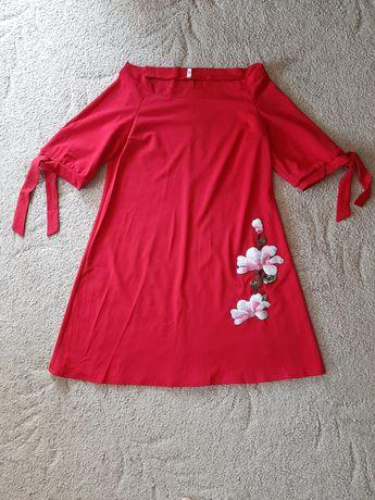 Летнее новое платье красного цвета, размер М
