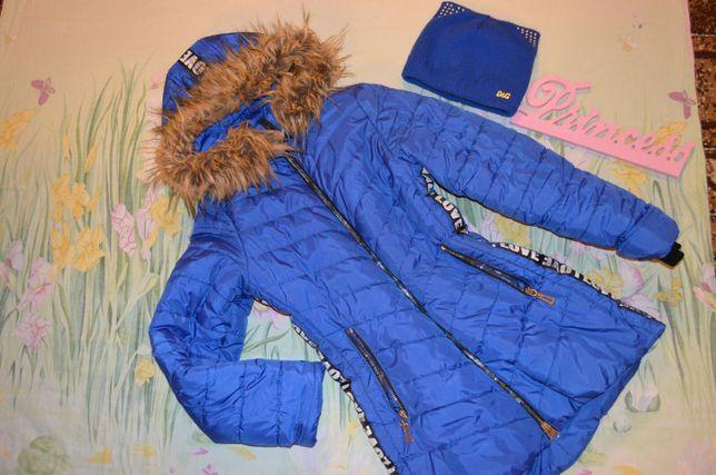 зимняя куртка рост 146-152