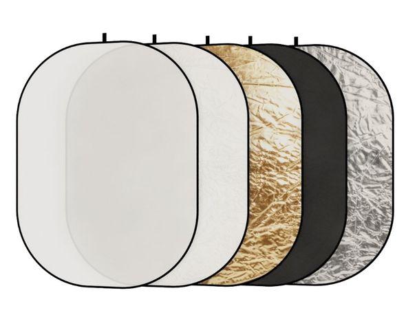 Овальный отражатель 90х120см рефлектор 5 в 1 лайт диск