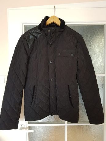 Czarna kurtka męska pikowana r. M