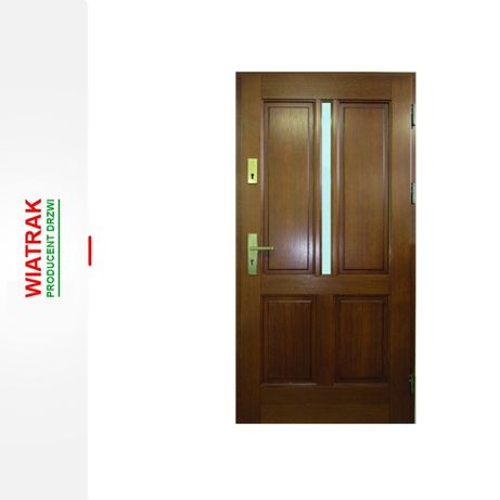 Drzwi zewnętrzne drewniane ocieplane 78mm od ręki Nasielsk i okolice