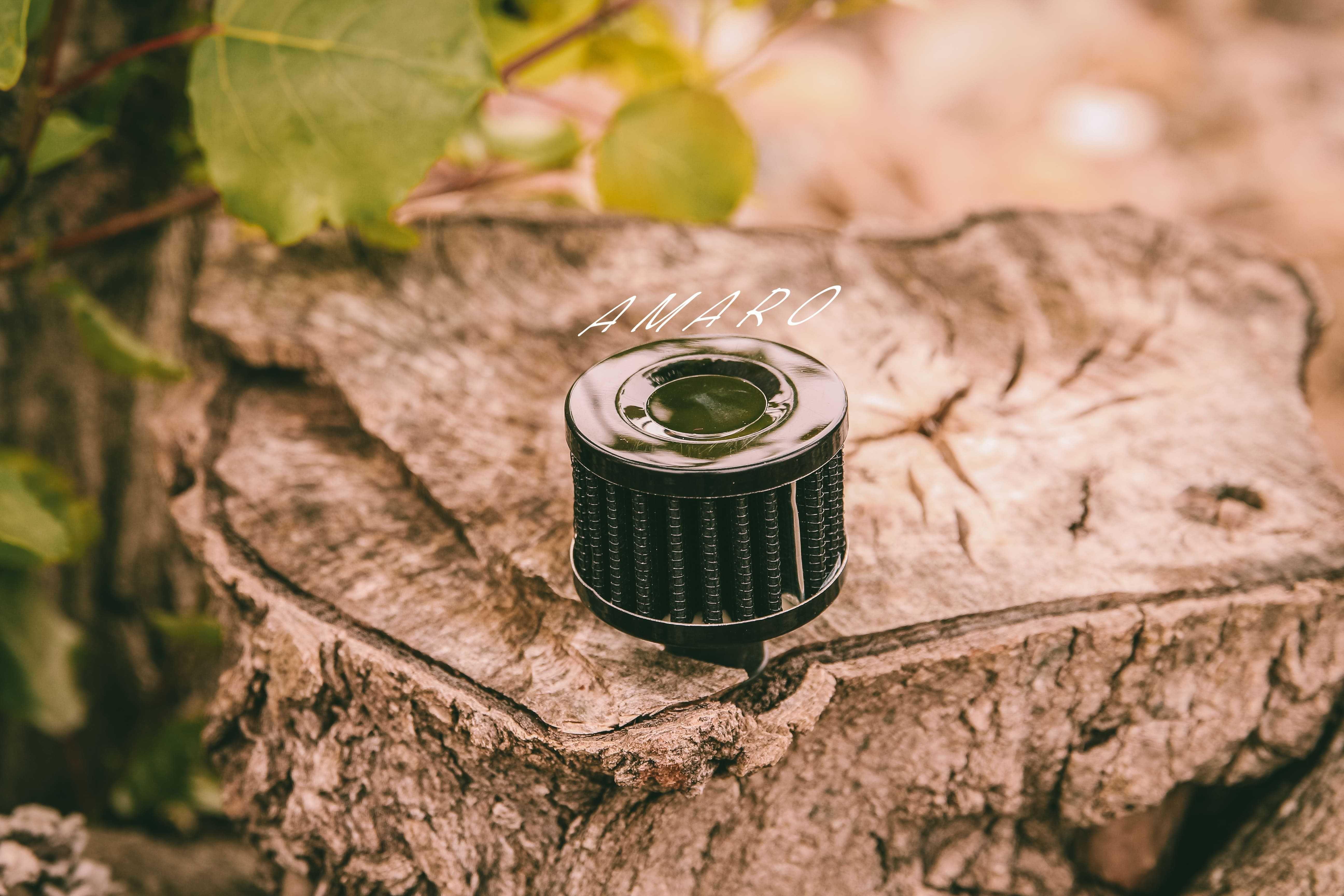 Filtro de Ar Mini em Alumínio para Mota ou Carro (Preto)|NOVO