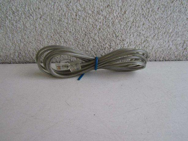Kabel telefoniczny wtyk RJ11 6p2c x 2 dł. 2,1m z PRL-u