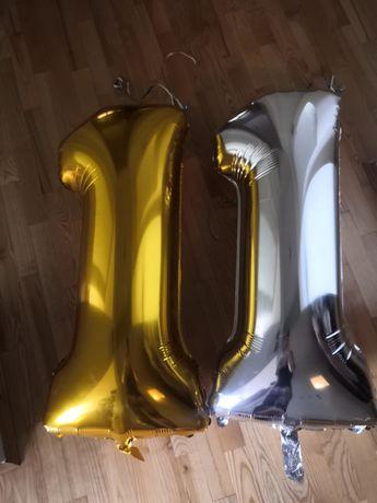 Dwa balony cyfra 1