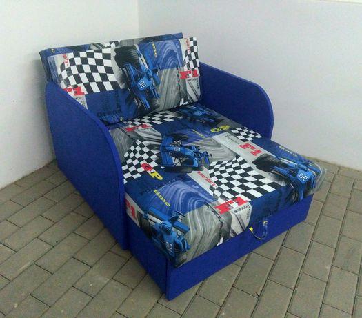 Sofa dla dzieci łóżko rozkładane z pojemnikiem na pościel hit!!