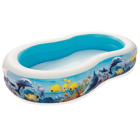 Детский надувной бассейн Bestway 54118, 262х 157х 46см
