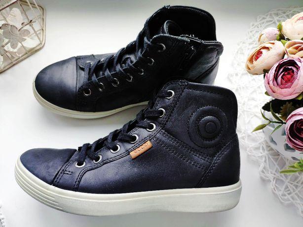 Ecco (Эко) 34 (22-22,5 см) Кожаные демисезонные ботинки оригинал кожа