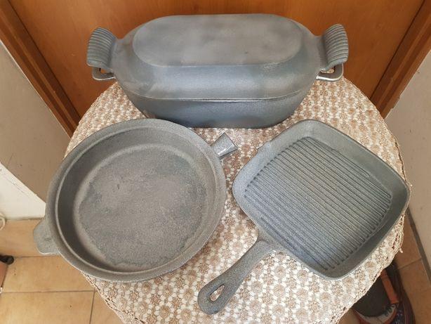 Gęsiarka żeliwna, Patelnia żeliwna, Kociołek, grill