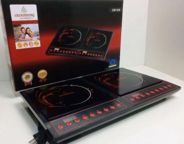 Индукционная плита Crownberg CB-1329 электроплита печь індукційна