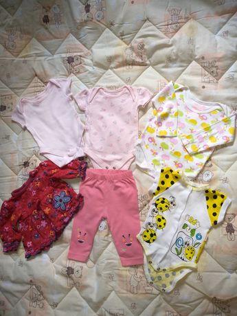 Вещи на девочку от 0-4 месяцев в отличном состоянии