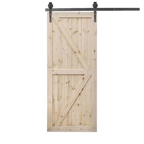 Drzwi sosnowe przesuwne z systemem LOFT komplet wysyłka gratis
