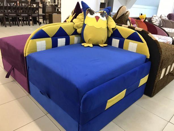 Дитячий диван «Сова»дитяче ліжко.диванчик.Фіолетовий,синій.