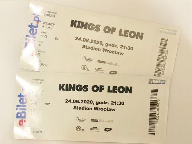 KINGS OF LEON Bilety VIP 2 bilety KONCERT Wrocław 23.06.2021