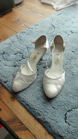 Buty ślubne satynowe rozm. 40