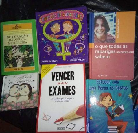 livros de várias categorias
