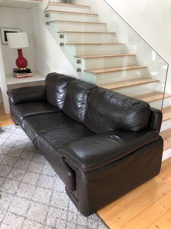 Kanapa i fotele skórzane - komplet