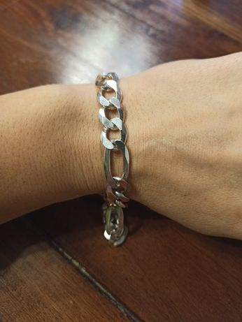 Bransoleta srebrna męska 22 cm NOWA likwidacja sklepu