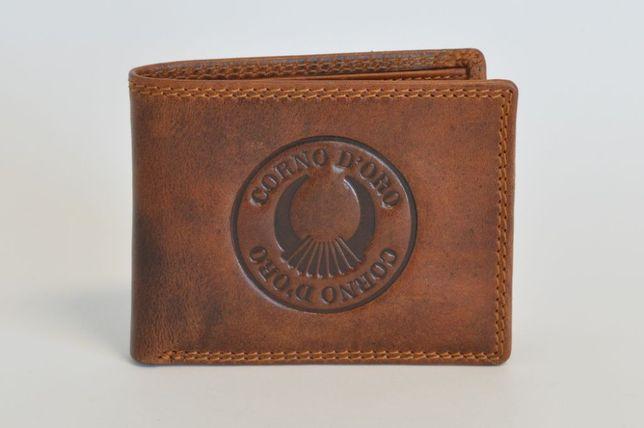 Portfel skórzany męski CORNO D'ORO brązowy CD32009W