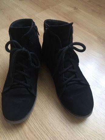 Ботинки замшевые зимние для девочки