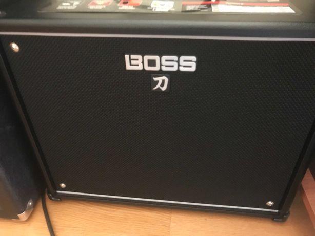 Amplificador Boss Katana 100 version 2 e acessórios