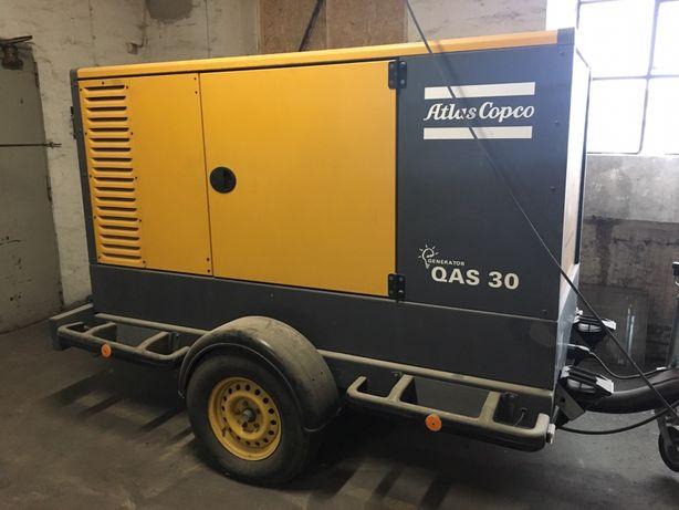 Generator Agregat Atlas Copco QAS 30 24 KW faktura vat 23%
