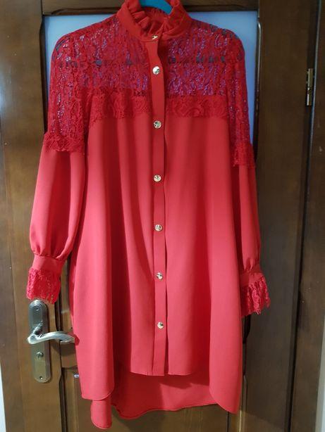 Sukienka czerwona na wesele święta przyjęcia